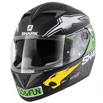 Casque Integral Shark S700 S Replica Redding Valencia KGY Pinlock