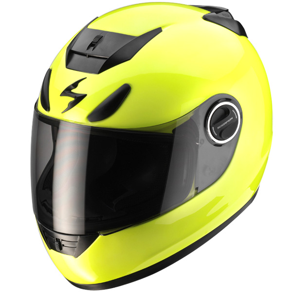 casque scorpion exo 750 air neon jaune fluo. Black Bedroom Furniture Sets. Home Design Ideas