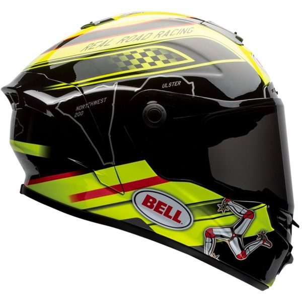 Casque Integral Bell Star Isle Of Man Black Yellow