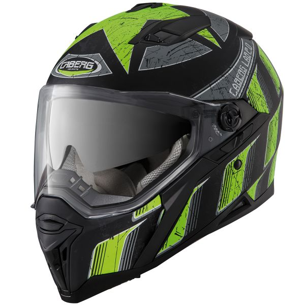 Casque Integral Caberg Stunt Steez Matt Black Yellow Fluo