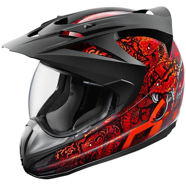 Casque Integral ICON Variant Cottonmouth Red