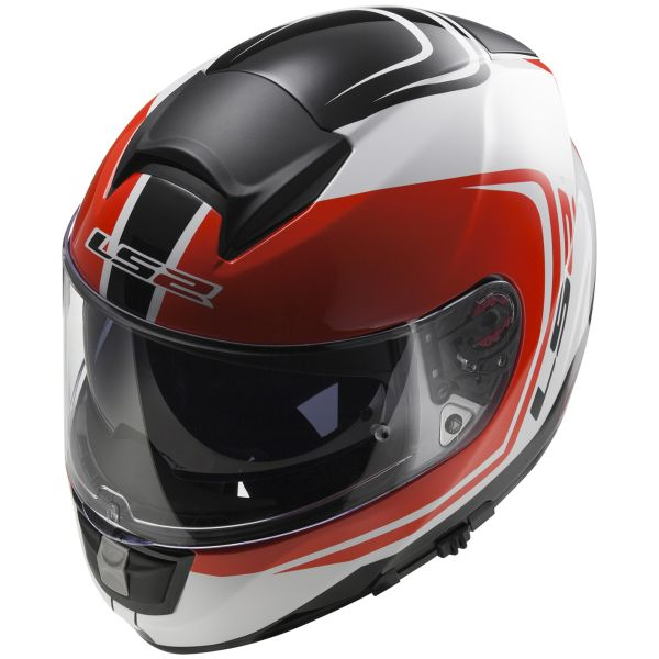Casque Integral LS2 Vector Wake White Black Red FF397