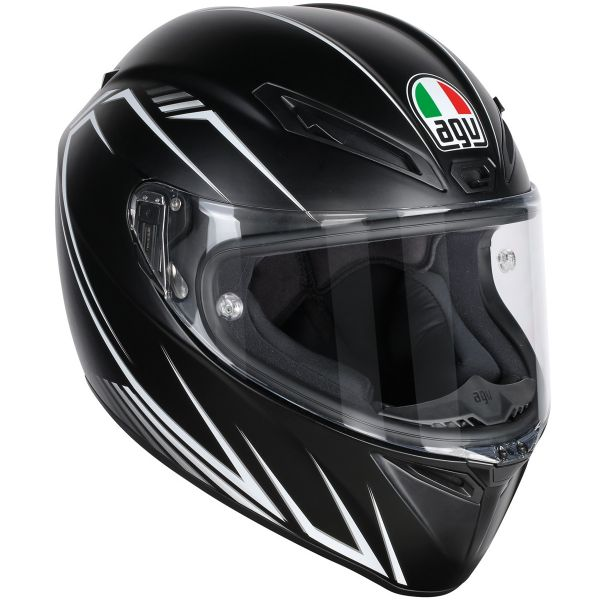 Casque Integral AGV Veloce S Predatore Matt Black White