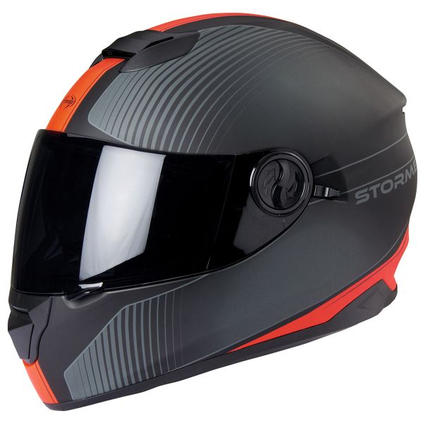 Casque Integral Stormer Versus Strip Matt Red