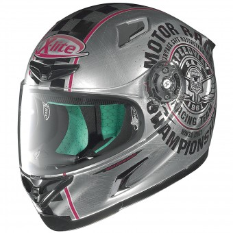 Casque Integral X-lite X-802RR Cafe Club Scratched Chrome 97