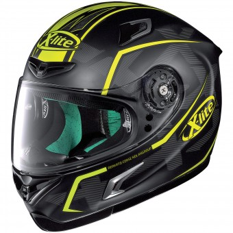 Casque Integral X-lite X-802RR Marquetry Flat Black Yellow 116