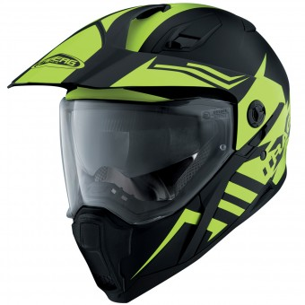 Casque Integral Caberg Xtrace Lux Matt Black Yellow Fluo