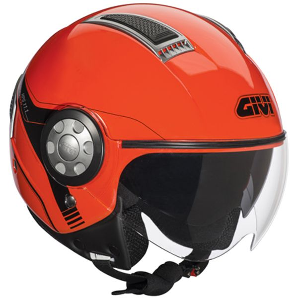 Casque Jet Givi 11.1 Fluo Red