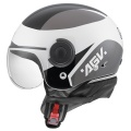 Casque moto AGV Bali Copter Visual White Black