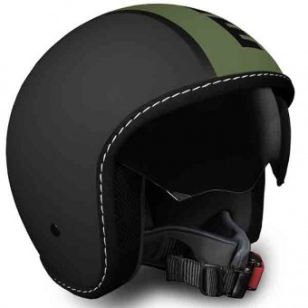 Casque Jet Momo Design Blade Black Matt Green