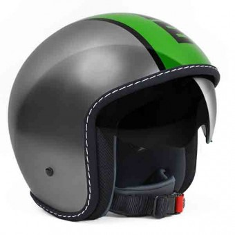 Casque Jet Momo Design Blade Grey Green
