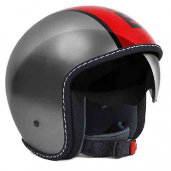 Casque Jet Momo Design Blade Grey Red