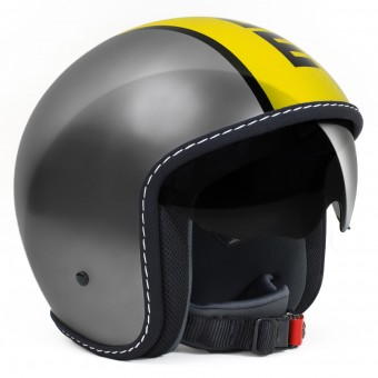 Casque Jet Momo Design Blade Grey Yellow