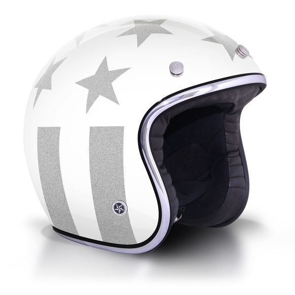Casque Jet GPA Carbon Legend America Blanc