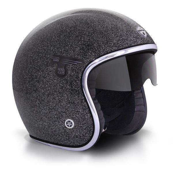 Casque Jet GPA Carbon Solar Flake Noir