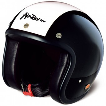 Casque Jet Airborn Steve AB 2 Black Cream