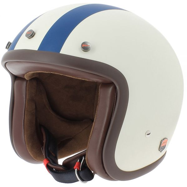 Casque Jet Airborn Steve AB 20 Matt Cream Blue