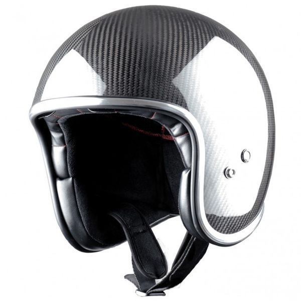 Casque Jet Astone Vintage Carbon Fiber Black