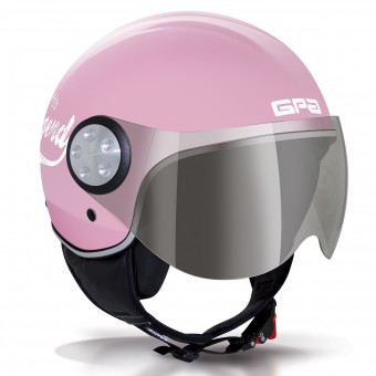 Casque Jet GPA Como 72'S Rose Pastel