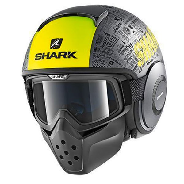 Casque Jet Shark Drak Tribute RM Mat AYK