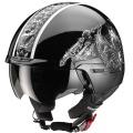 Casque moto Scorpion EXO 100 Skull Noir Blanc