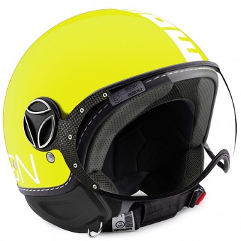 Casque Jet Momo Design FGTR Classic Lime White