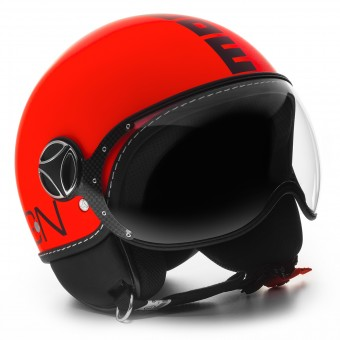 Casque Jet Momo Design FGTR Fluo Orange Mat