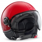 Casque Jet Momo Design FGTR Glam Rouge