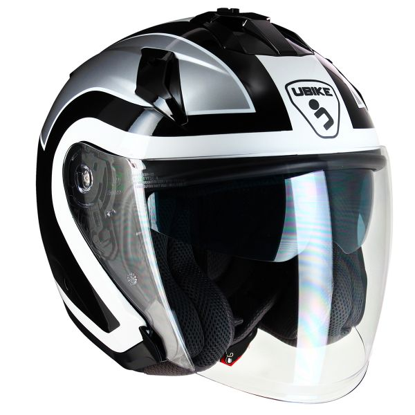 Casque Jet UBIKE Force Racing Silver