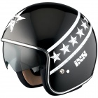 Casque Jet IXS HX 77 Start Black White