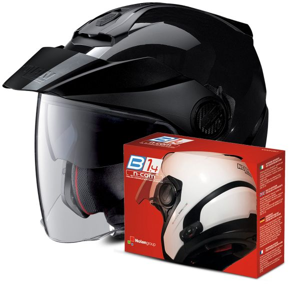 Casque Jet Nolan N40 5 Classic N-Com Black 3 + Kit Bluetooth B1.4