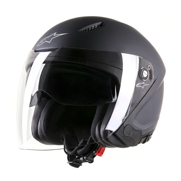 Casque Jet Alpinestars Novus Matt Black
