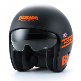 Casque Jet Blauer Pilot 1.1 Noir Orange Fluo