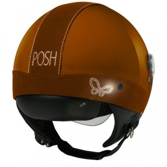 Casque Jet MAX Posh Marron