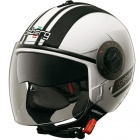 Casque Jet Caberg Riviera V2+ Pure White Black