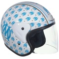 Casque moto Stormer Sun OM Fashion Blanc