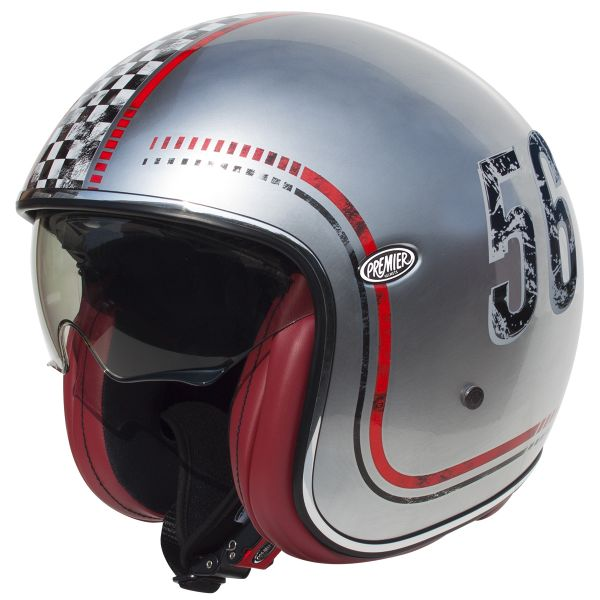 Casque Jet Premier Vintage FL Chromed