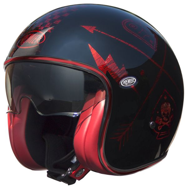 Casque Jet Premier Vintage NX Red Chromed