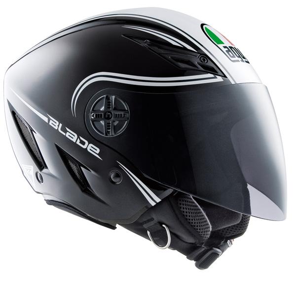 casco agv jet moto scooter blade start nero bianco tg m ebay. Black Bedroom Furniture Sets. Home Design Ideas
