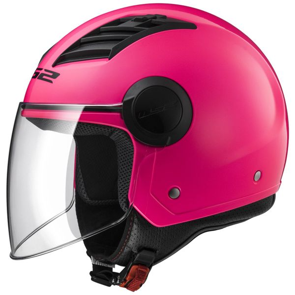 Casque Jet LS2 Airflow Pink Long OF562
