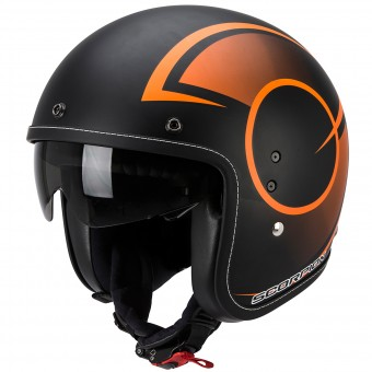 Casque Jet Scorpion Belfast Citurban Matte Black Orange