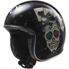 Casque Jet LS2 Bobber Tattoo Black OF583