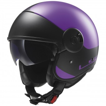 Casque Jet LS2 Cabrio Via Matt Purple Black OF597