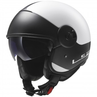 Casque Jet LS2 Cabrio Via Matt White Black OF597
