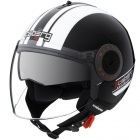 Casque Jet Caberg Riviera V2+ Pure Black White