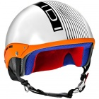 Casque Jet IDI Mini Stripes Blanc Mat - Noir