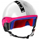 Casque Jet IDI Mini Stripes Blanc - Noir