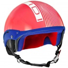 Casque Jet IDI Mini Stripes Corail - Blanc