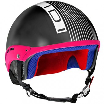 Casque Jet IDI Mini Stripes Noir Mat