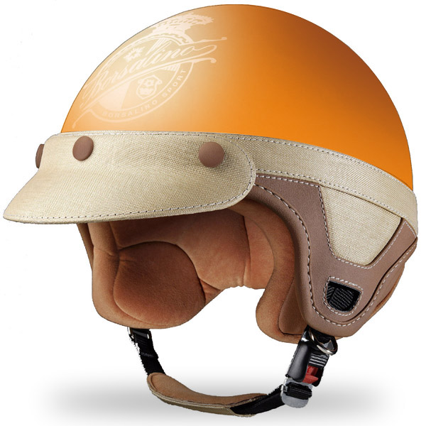 Casque Jet Borsalino Panama Orange mat